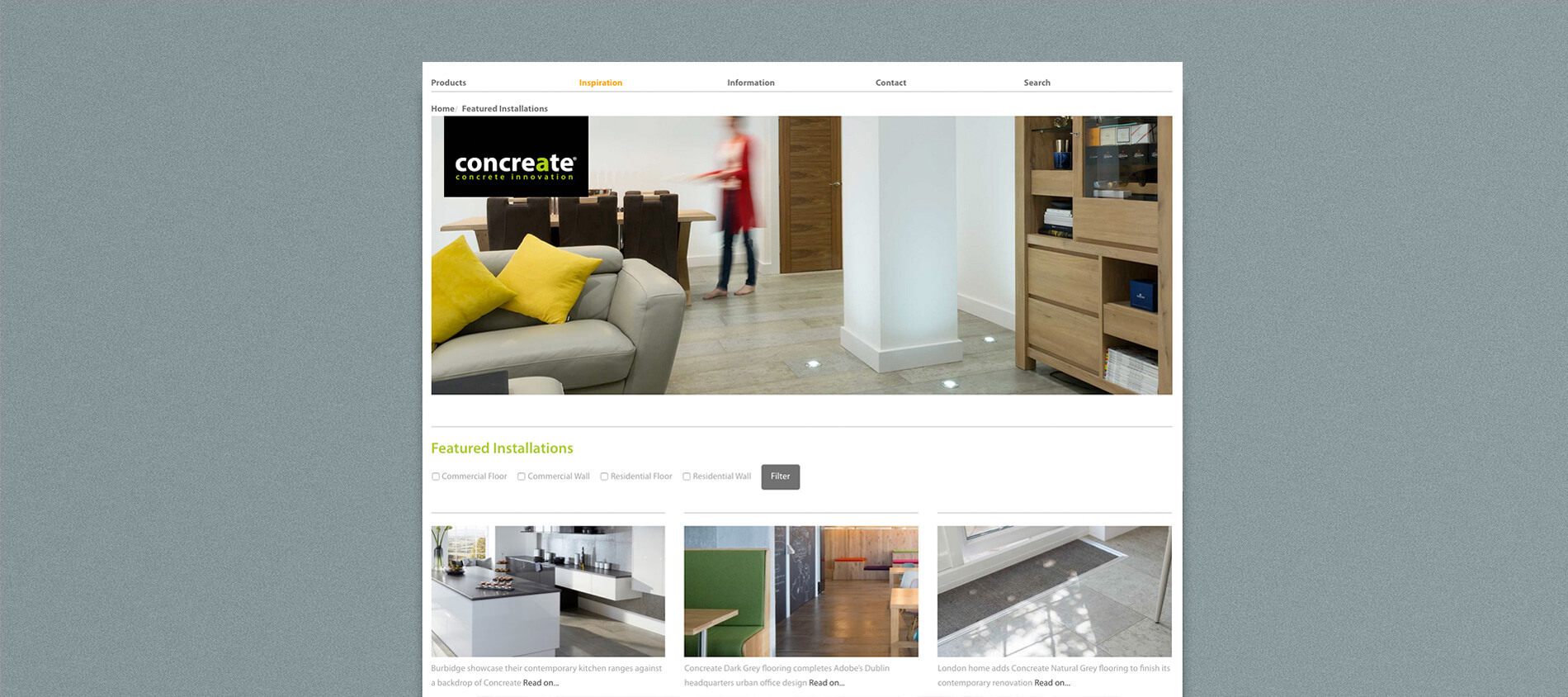 Concreate website